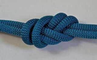 Морской узел «восьмерка»