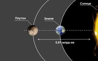 Расстояние от Солнца до Плутона: среднее в км, световых годах и а. е.
