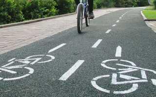 Ширина велосипедной дорожки по ГОСТу и нормам СНиП (СП)