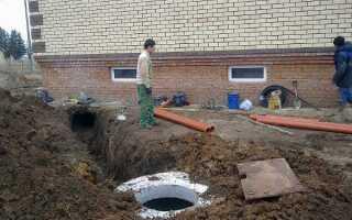 Минимальное расстояние от канализации до фундамента здания: самотечная по СП и СНиП