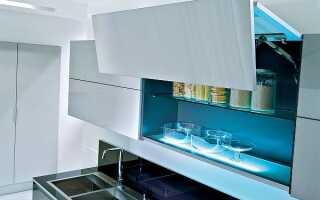 На какую высоту вешать шкафы на кухне: рабочая поверхность столешницы и пол