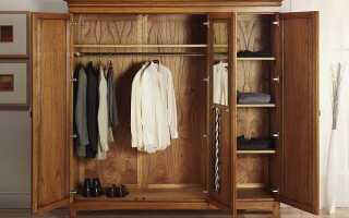 Оптимальное расстояние между полками в шкафу-купе для одежды