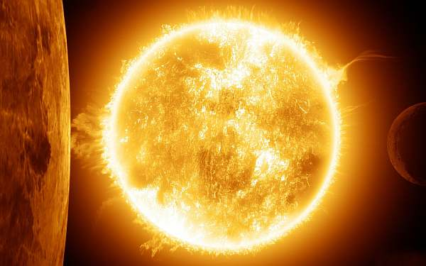 Солнце в космосе