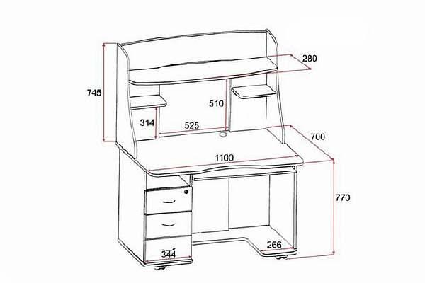 Высота компьютерного стола