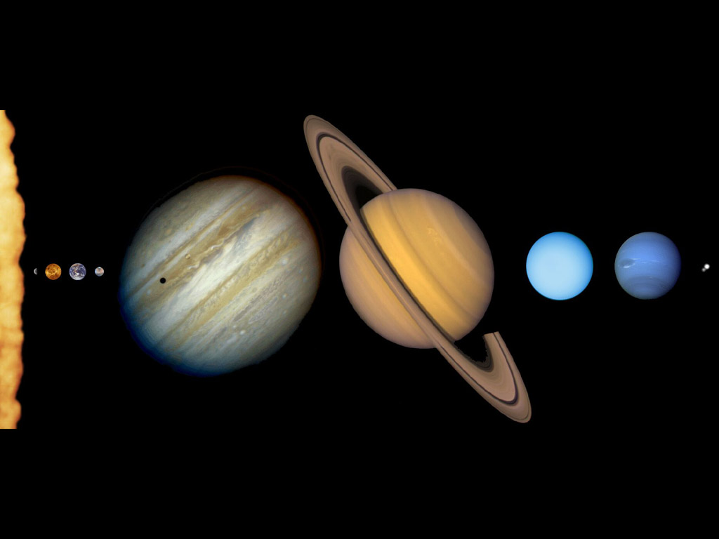 the inner and outer planets in our solar system universe - HD1024×768
