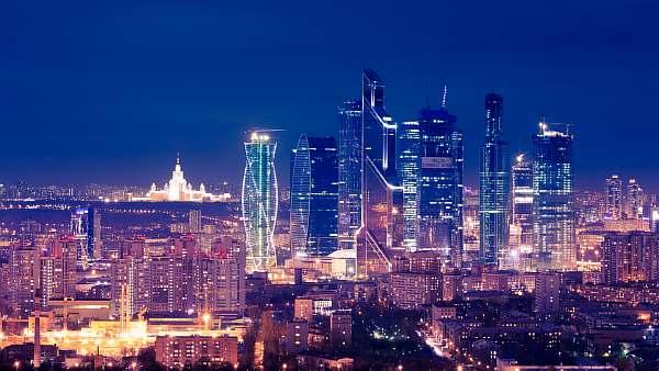 Столица ночью