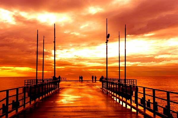 Закат в Адлере