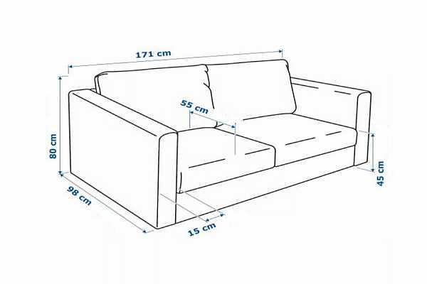Высота спинки дивана