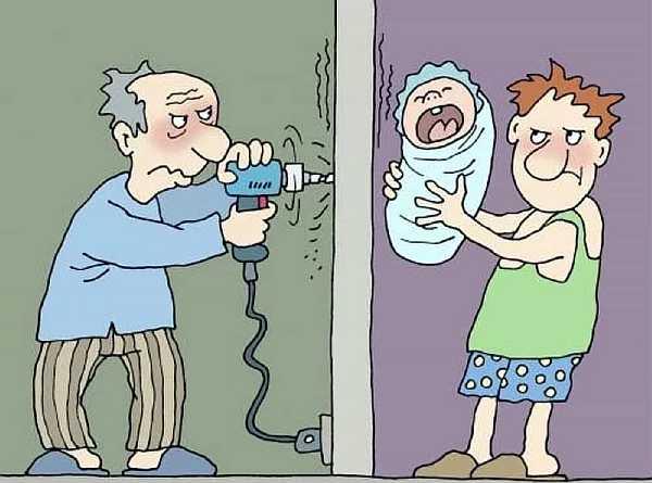 Шумные соседи в многоквартирном доме